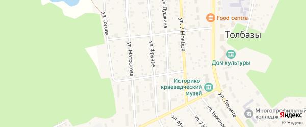 Улица Фрунзе на карте села Толбазы с номерами домов