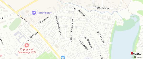 Жуковского 2-й переулок на карте Уфы с номерами домов