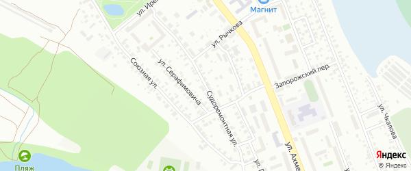 Судоремонтная улица на карте Уфы с номерами домов