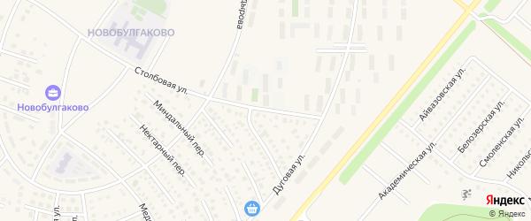 Столбовая улица на карте села Булгаково с номерами домов