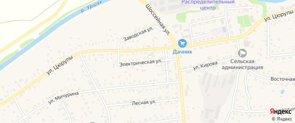 Электрическая улица на карте села Булгаково с номерами домов