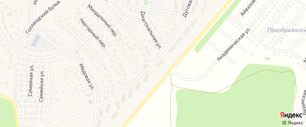 Дуговая улица на карте села Булгаково с номерами домов
