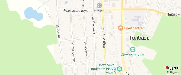 Улица С.Лазо на карте села Толбазы с номерами домов