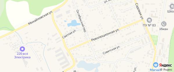 Октябрьский переулок на карте села Михайловки с номерами домов
