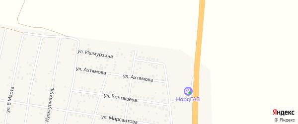 Северный переулок на карте села Толбазы с номерами домов