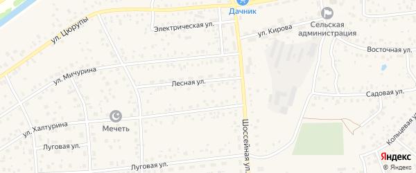 Береговой переулок на карте села Булгаково с номерами домов