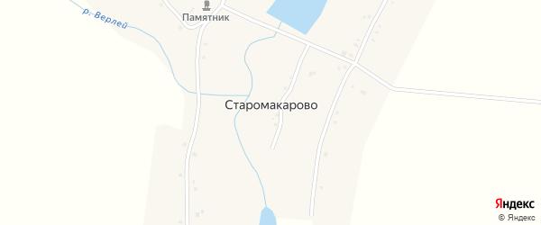 Садовая улица на карте деревни Старомакарово с номерами домов