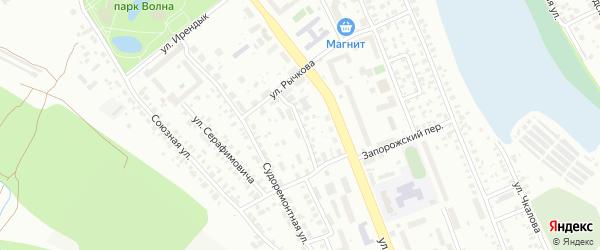 Судоремонтная 2-я улица на карте Уфы с номерами домов