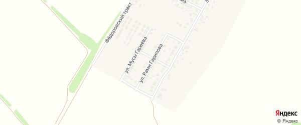 Улица Рами Гарипова на карте деревни Байрака с номерами домов