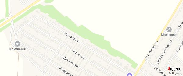 Луговая улица на карте села Новой Отрадовки с номерами домов