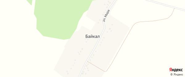 Улица Мира на карте деревни Байкала с номерами домов