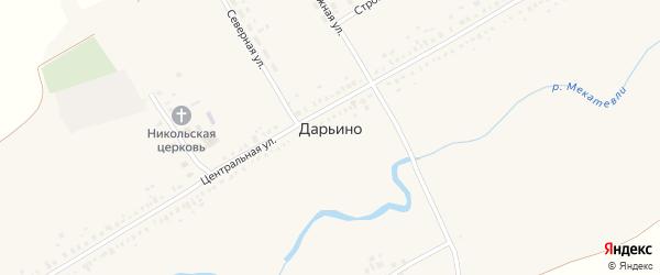 Строительная улица на карте села Дарьино с номерами домов