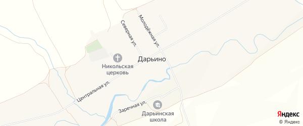 Карта села Дарьино в Башкортостане с улицами и номерами домов