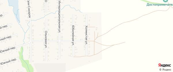 Холмистая улица на карте села Верхние Татышлы с номерами домов