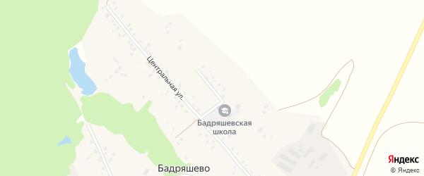 Школьная улица на карте деревни Бадряшево с номерами домов
