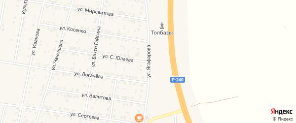 Улица Ягафарова на карте села Толбазы с номерами домов