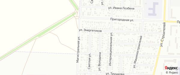 Светлая улица на карте Стерлитамака с номерами домов