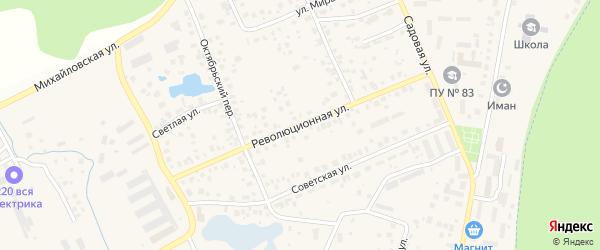 Революционная улица на карте села Михайловки с номерами домов