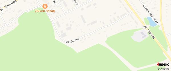 Улица Титова на карте села Толбазы с номерами домов