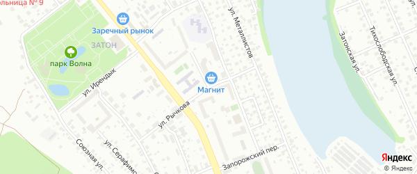 Улица Жуковского на карте Уфы с номерами домов