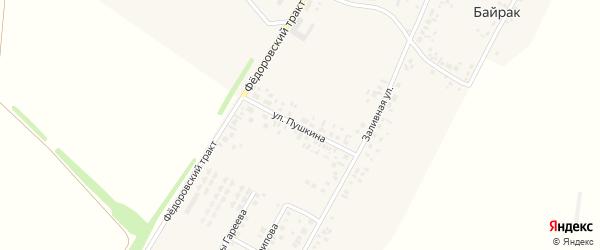 Улица Пушкина на карте деревни Байрака с номерами домов