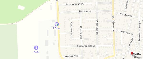 Союзная улица на карте села Михайловки с номерами домов