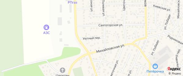 Уютный переулок на карте села Михайловки с номерами домов