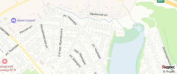 Михайловский переулок на карте Уфы с номерами домов