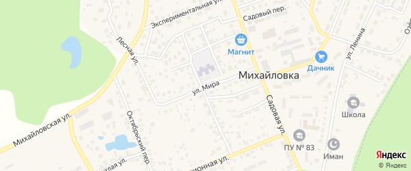 Улица Мира на карте села Михайловки с номерами домов