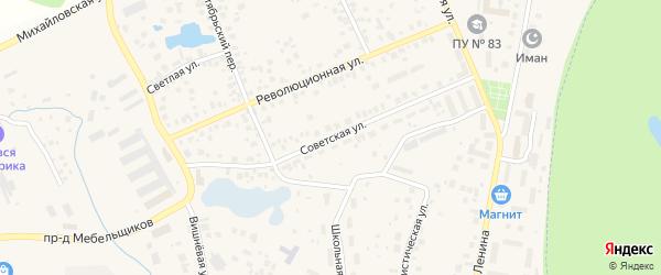 Советская улица на карте села Михайловки с номерами домов