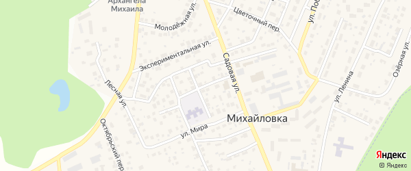 Интернациональная улица на карте села Михайловки с номерами домов