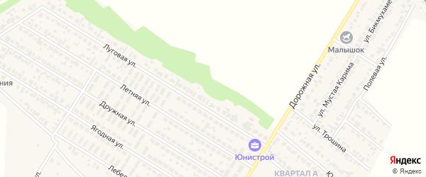 Луговая улица на карте деревни Байрака с номерами домов