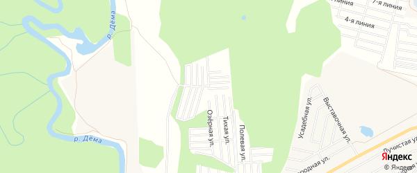 СНТ Молодость на карте Уфимского района с номерами домов