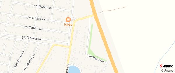Улица Чкалова на карте села Толбазы с номерами домов