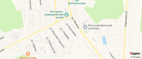 Улица Николаева на карте села Толбазы с номерами домов