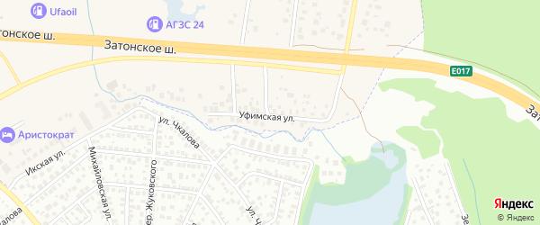 Уфимская 1-я улица на карте Уфы с номерами домов