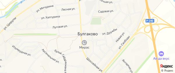Микрорайон Аэропорт на карте села Булгаково с номерами домов