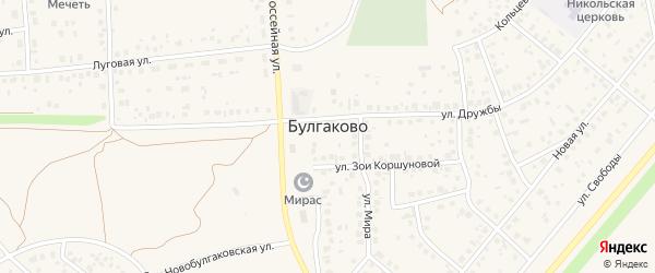 Новобулгаковская улица на карте села Булгаково с номерами домов