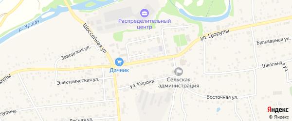 Улица Цюрупы на карте села Булгаково с номерами домов