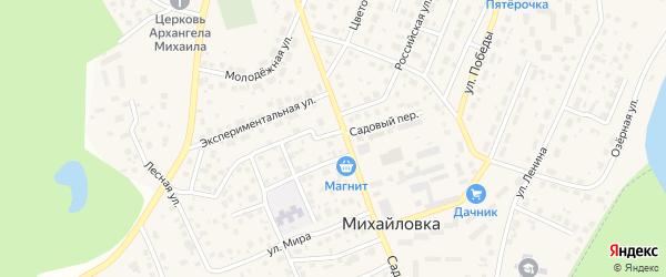 Переулок Летчиков на карте села Михайловки с номерами домов