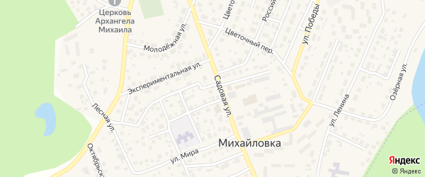 Черничная улица на карте села Михайловки с номерами домов