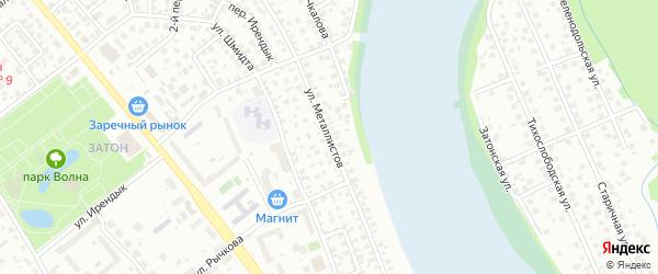 Улица Металлистов на карте Уфы с номерами домов