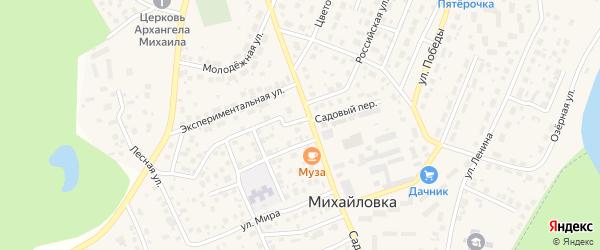 Улица Дениса Булякова на карте села Михайловки с номерами домов