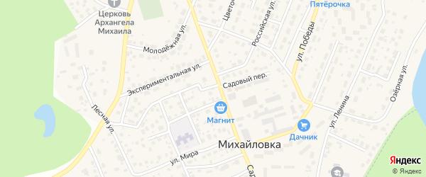 Ясная улица на карте села Михайловки с номерами домов