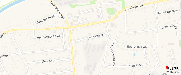 Улица Кирова на карте села Булгаково с номерами домов