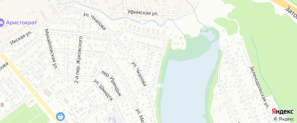 Переулок Чкалова на карте Уфы с номерами домов