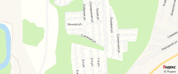 Снежная улица на карте села Зубово с номерами домов