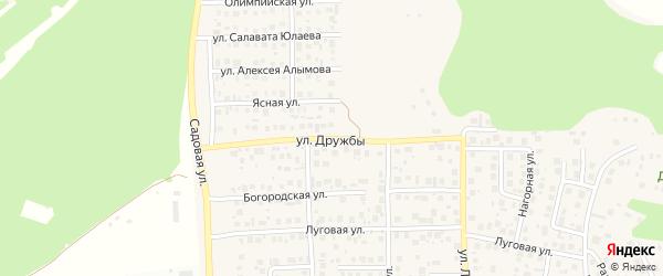 Улица Дружбы на карте села Михайловки с номерами домов