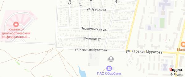 Школьная улица на карте Стерлитамака с номерами домов