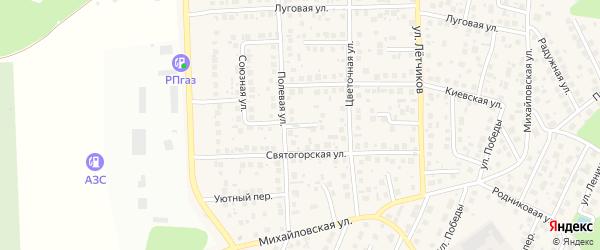 Ромашковый переулок на карте села Михайловки с номерами домов